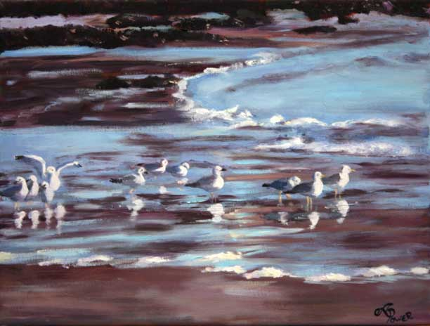 Andrea Power Dingle Artist's Seabirds Gathering on the Wild Atlantic Way