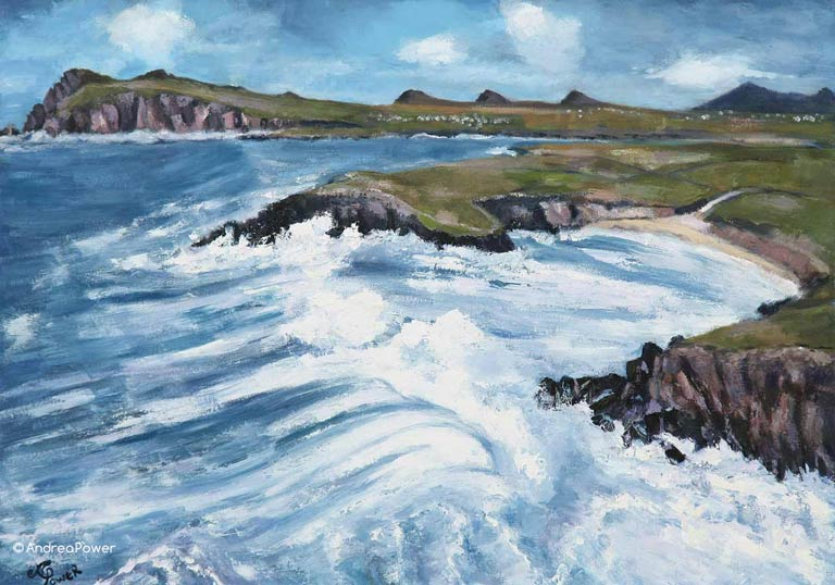 Andrea Power Dingle Artist's Gigantic Wave Clogher on the Wild Atlantic Way