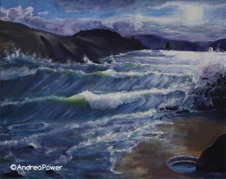 Andrea Power Dingle Artist Wild Water Doonsheane